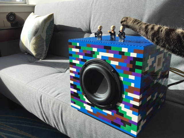 Finished LEGO Speaker
